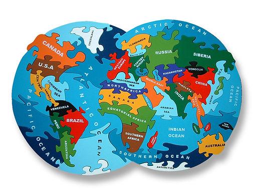 Map of the World - alphabet Jigsaws