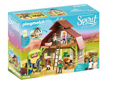Playmobil DreamWorks Spirit 70118 Barn with Lucky, Pru and Abigail