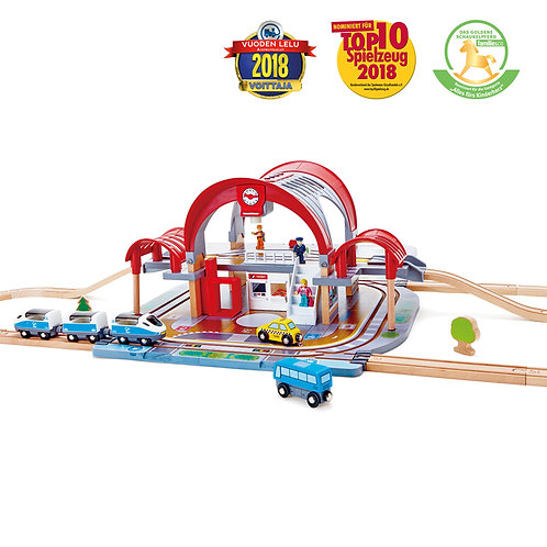 HAPE Grand City Station Train Set