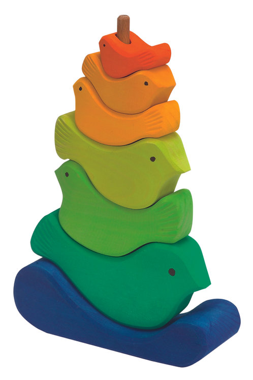 Gluckskafer 7 Piece Bird Stacker