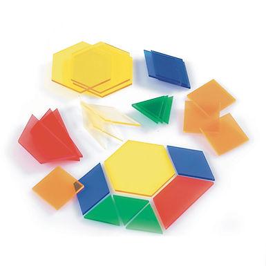 Edx Education Translucent Pattern Blocks