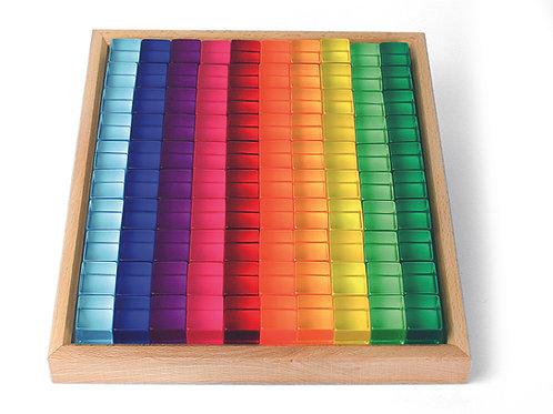 Bauspiel Lucent Cubes 100 pcs