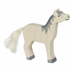 Holztiger Horse, Head Raised, Grey Mane