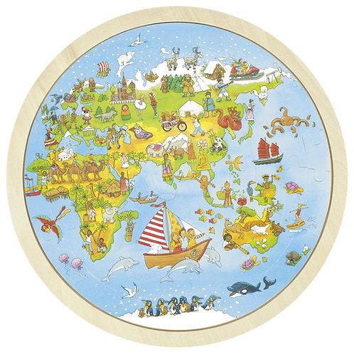 Goki Puzzle, On World Tour, Peggy Diggledey