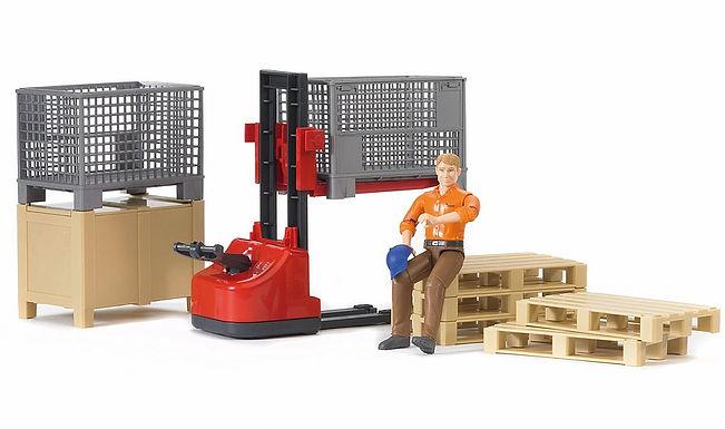 Bruder World Logistics Set W/Figure