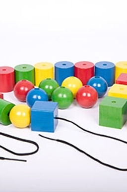 Edx Education Giant Wooden Lacing Beads