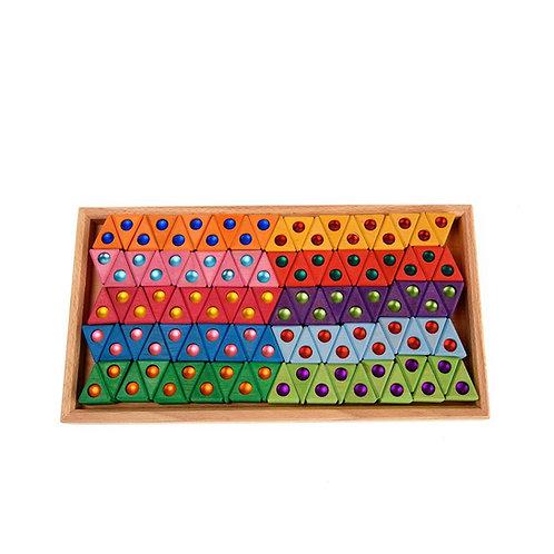 Bauspiel Coloured Triangles 100 pcs