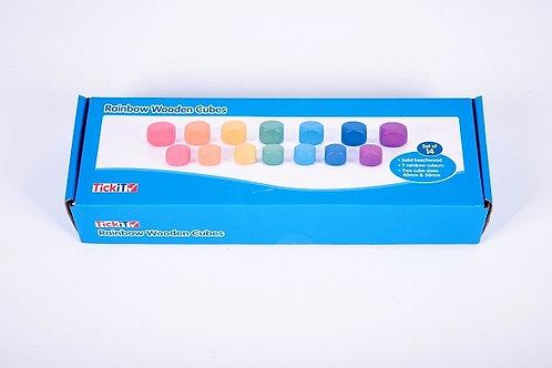 TickiT Rainbow Wooden Cubes