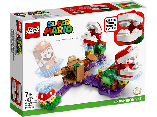 LEGO SUPER MARIO 71382 Piranha Plant Puzzling Challenge Expansion Set