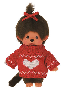 Monchhichi Girl in Sweater with Heart