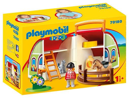 Playmobil 1.2.3 70180 My Take Along Farm