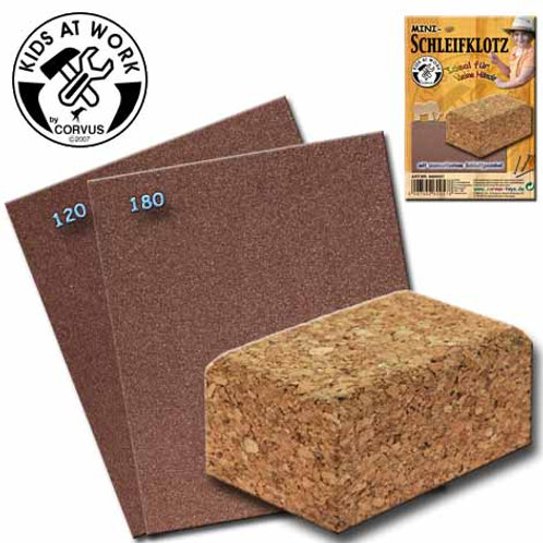 Tools for Juniors  Sanding Block Incl. Abrasive Sheets