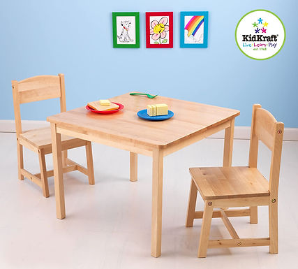 KidKraft Aspen Table and 2 Chair Set in Natural