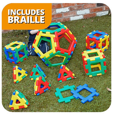Giant Polydron Platonic Solids Sets