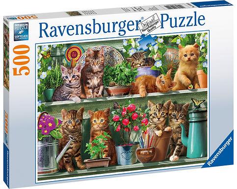 Ravensburger Cats on the Shelf, 500pc Jigsaw Puzzle