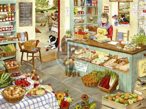 The House of Puzzles - FARM SHOP - 1000 piece Jigsaw