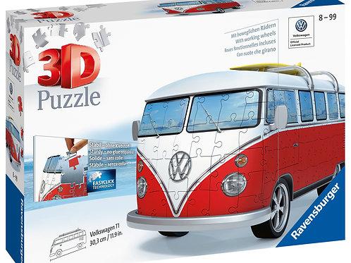 Ravensburger VW T1 Camper Van 3D Puzzle, 162pc Jigsaw Puzzle