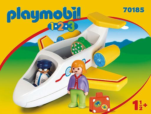 Playmobil 1.2.3 70185  Plane with Passenger