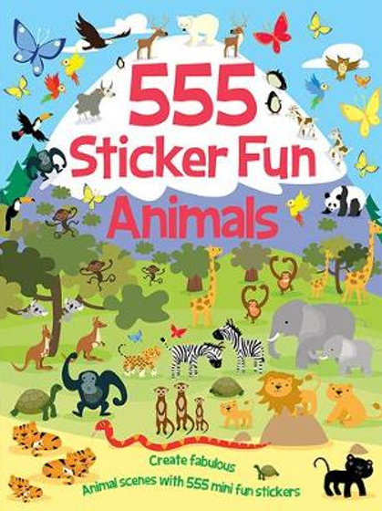 Books - 555 Sticker Fun Animals 2ed