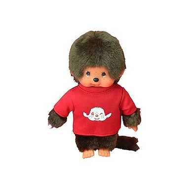 Monchhichi in Red Top & Motif
