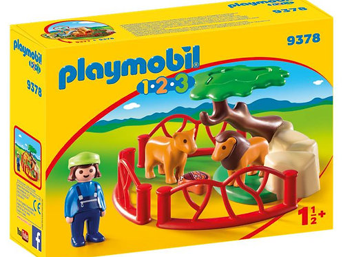 Playmobil 1.2.3 9378 Lion Enclosure with Cave