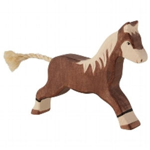 Holztiger Horse, Running, Dark Brown