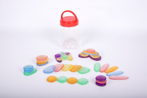 Edx Education Junior Rainbow Pebbles Clear
