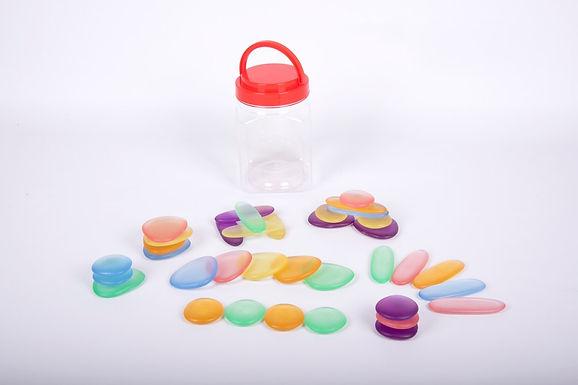 Edx Education Junior Rainbow Pebbles Clear