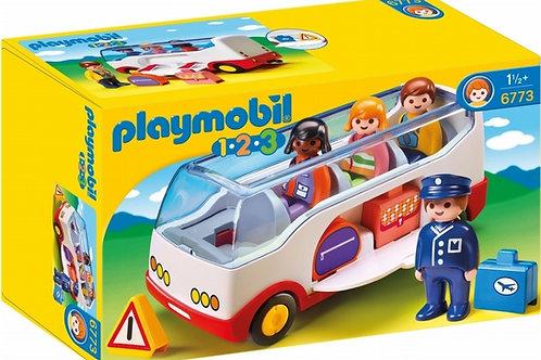 Playmobil 1.2.3 6773  Airport Shuttle Bus