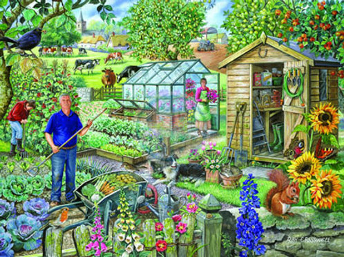 The House of Puzzles - AT THE ALLOTMENT - Big 500 piece Jigsaw