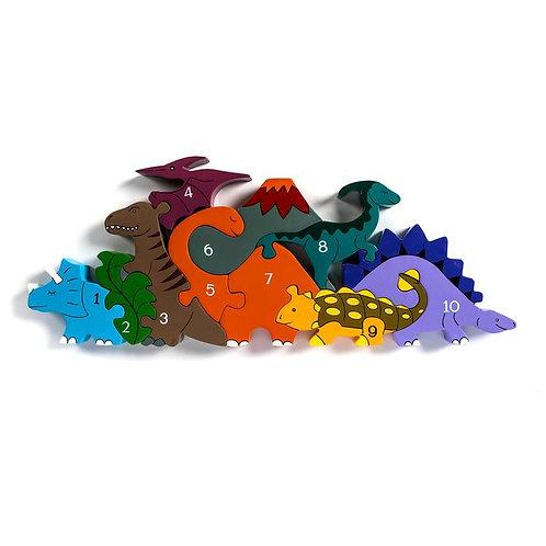 Number Dinosaur Row Jigsaw Puzzle - Alphabet Jigsaw