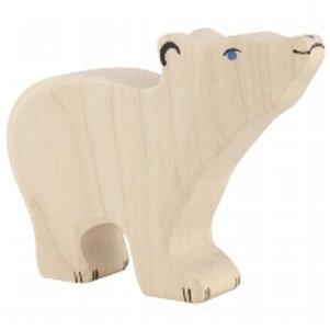 Holztiger Polar Bear, Small, Head Raised
