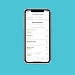 photo of iphone with Google Guarantee screenshot