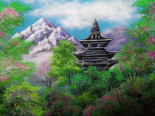 Картина в багете. Япония 800*600 мм