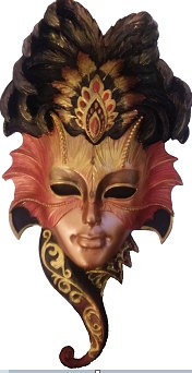 Панно на стену Венецианская маска Сова 280*140 мм