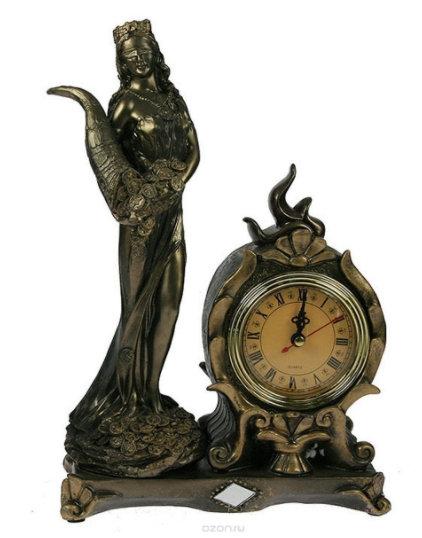 """Часы настольные """"Римская богиня счастья и удачи - Фортуна"""""""