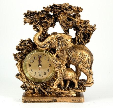 Часы настольные Слоны