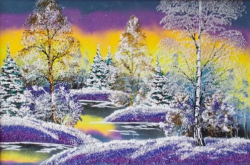 Картина в багете. Зима 800*500 мм