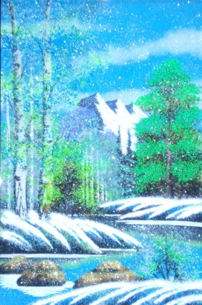 Картина в багете.Зима 800*600 мм
