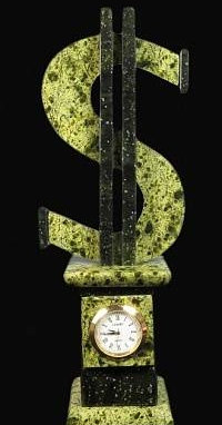 "Часы каминные ""Доллар"""