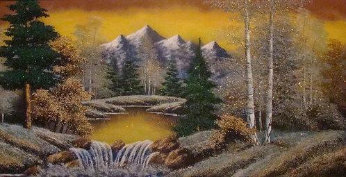 Копия Картина в багете. Зима 800*500 мм