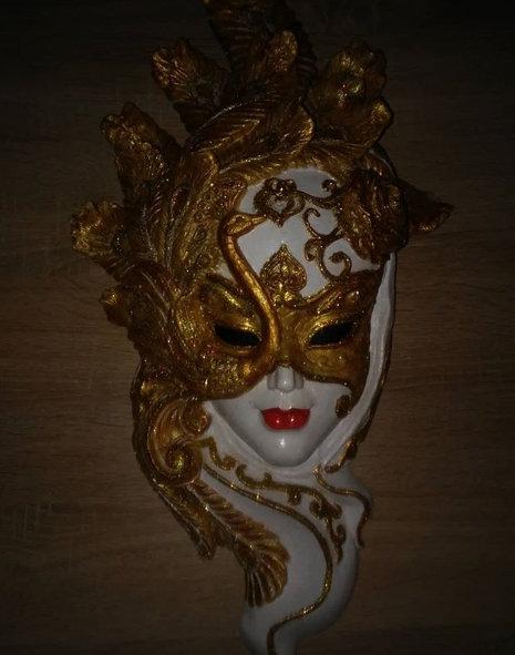 Панно на стену Венецианская маска Павлин 550*270 мм