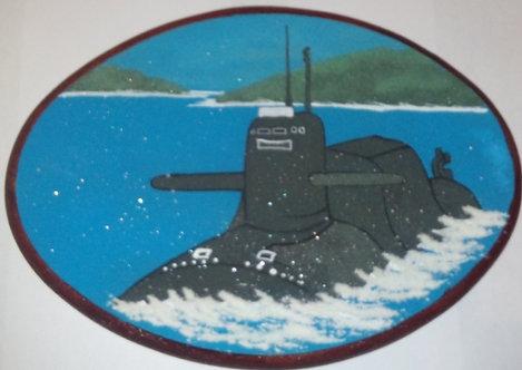 Панно. Подводная лодка 240*180 мм