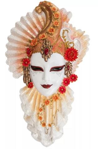 Панно на стену Венецианская маска Рубин 340*230 мм