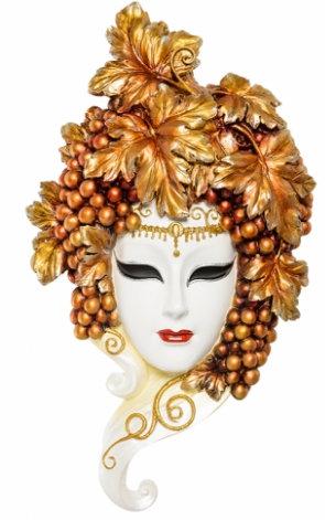 Панно на стену Венецианская маска Виноград 340×230 мм