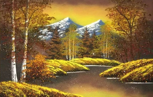 Картина в багете. Осень 800*500 мм