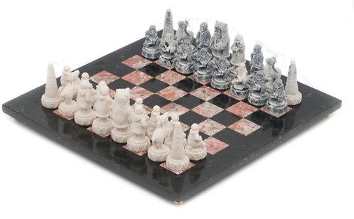 """Шахматы """"Северные народы"""" креноид змеевик"""