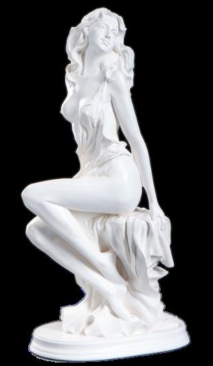 Статуэтка девушка на скале