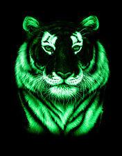 Картина в багете светящаяся в темноте, Тигр 400*400 мм