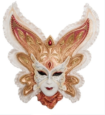 Панно на стену Венецианская маска Бабочка 280*260 мм